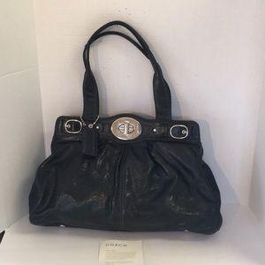 Coach black large leather Garnett satchel